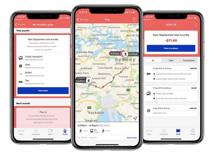 SkedGo's Tripi app, used for the Sydney Maas trial.