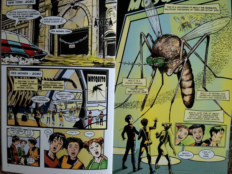 Two pages from a comic book.