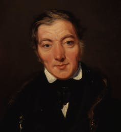 Robert Owen portrait by William Henry Brooke